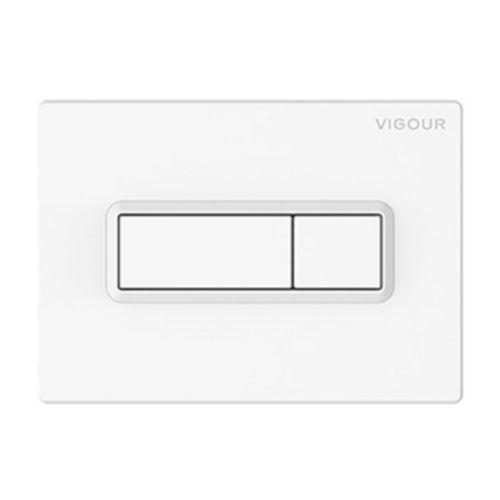 Vigour Betätigungsplatte TEES WC 2-Mengen-Spültechnik Farbe weiss chrom
